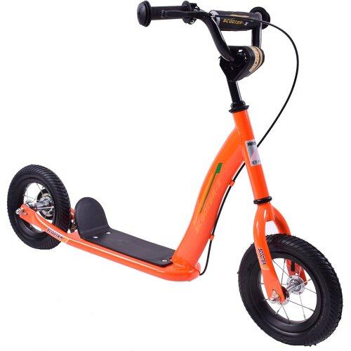 "Professional Scoot-X 10"" Wheel Kids Ride On Scooter Neon Orange Age 4+"