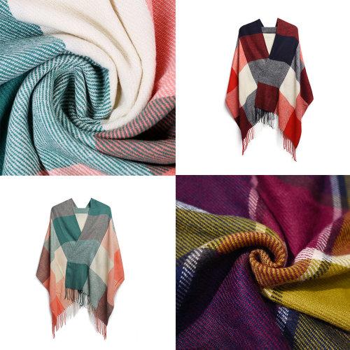 Miss Lulu Women Ladies Fashion Long Shawl Grid Tassel Winter Warm Lattice Large Scarf