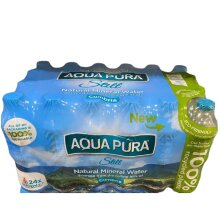 Aqua pura Still Natural Mineral Water Pack 24 x 500ml