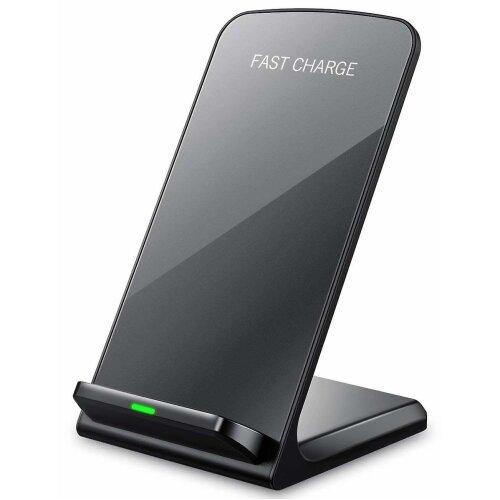 Alcatel A3 XL Wireless Black Qi Charger Desktop Stand + Qi Receiver Micro USB
