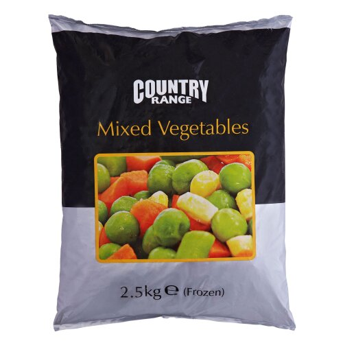 Country Range Frozen Mixed Vegetables - 4x2.5kg