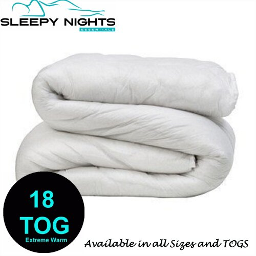 Extreme Warm Duvet 16.5 , 18 TOG Tog Non Allergenic Hollowfibre Corovin Quilt