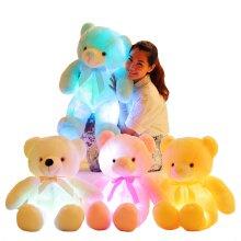 Light Up LED Teddy Bear Stuffed Animals Plush Toys