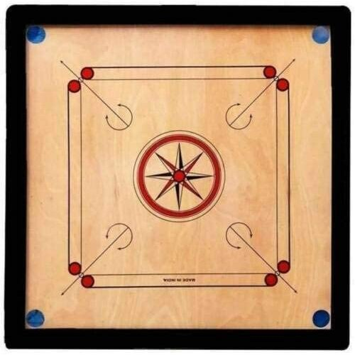 Carrom Board Game Large Size 36/36 Inch Wooden Coins Strike Family Fun