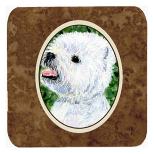 Westie Foam Coasters, Set Of 4