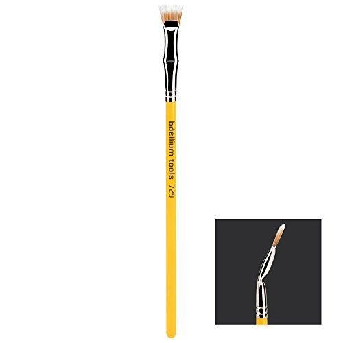 Bdellium Tools Professional Makeup Brush Studio Line Duet Fiber Bent Mascara Fan 729