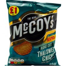 Full Box of McCoys Thai Sweet Chicken 16 x 65g Large Bags £1