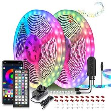 LED Strip Lights 20M Ultra-Long LED Lights Strip Music Sync, App Control with Remote, 600LEDs RGB LED Lights for Bedroom, DIY Color Options LED Tape