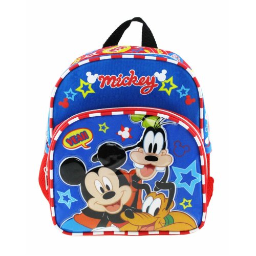 """Mini Backpack - Disney - Mickey Mouse - Hey Friends 10"""" New 007850"""
