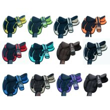 "TREELESS HORSE SADDLES IN MULTI COLOURS SIZE-16""+ FREE GIRTH"