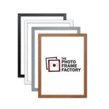 Thin Matt Picture Photo Frames, Flat Profile Art Poster Frames Black, White, Walnut & Grey Thin Photo Frames