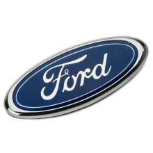 Dark Blue Ford Oval Grill Badge Emblem For Mondeo (115mm x 45mm)