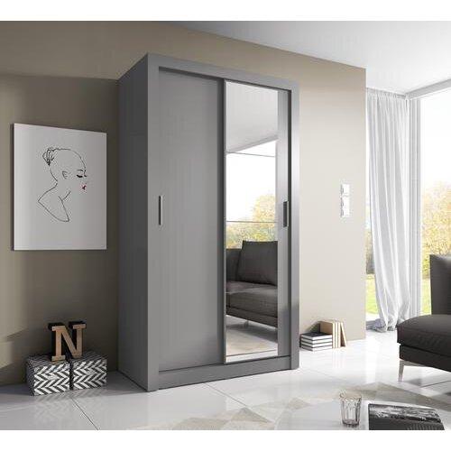 (Grey Matt) Arti 6 - 2 Sliding Door Wardrobe 120cm
