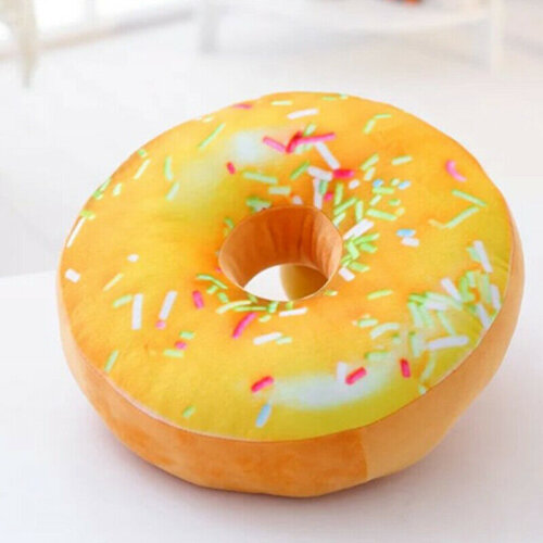 (Mango with) 3D Soft Round Donut Pillow Plush Sofa Waist Throw Bed Cushion Decor Stuffed Toys