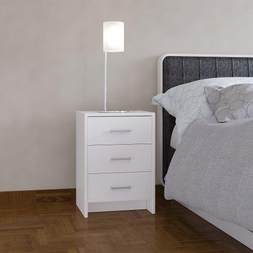 Stratford 3-Drawer Bedside Cabinet