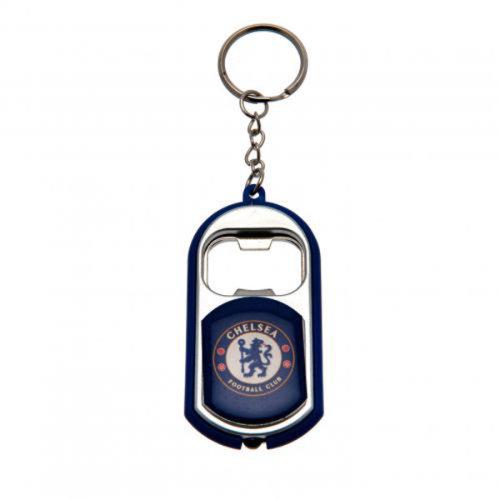 Chelsea Torch Light Bottle Opener Keyring - Multi-colour - Fc Key Ring Official -  bottle opener chelsea torch fc key ring official football keyring