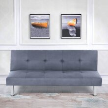 3 Seater Sofa bed Brand New Fabric Padded Sofabed Couch Recliner