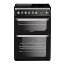 Hotpoint HUE61KS Ultima Free Standing  Electric Cooker with Ceramic Hob 60cm