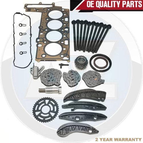 FOR BMW 320d UPPER LOWER DIESEL TIMING CHAIN KIT ROCKER COVER HEAD GASKETS BOLTS