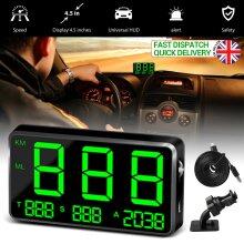 Digital Car GPS Speedometer HeadUp Display Overspeed MPH/KM/H Warning