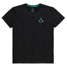 ASSASSIN'S CREED Valhalla Nordic All-over Print T-Shirt Male Black - (UK2020)