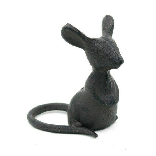 Cast Iron Listening Mouse Ornament