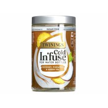 Twinings Cold In'fuse for Water Bottles, Coconut, Pineapple And Green Tea Flavour 12 Infusers
