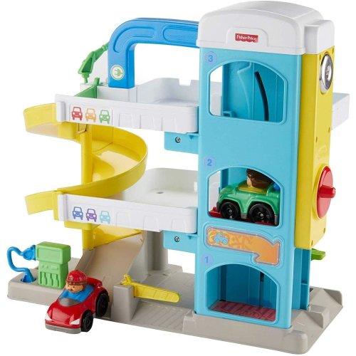 Fisher-Price Little People Wheelies Garage Playset|Kid's Activity Toy|+12 Months