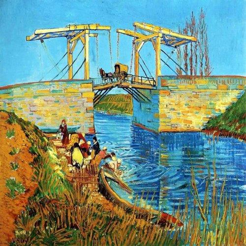 Painting by Vincent Van Gogh - Bridge at Arles (Pont de Langlois) - Digital print on canvas - cm. 90x90