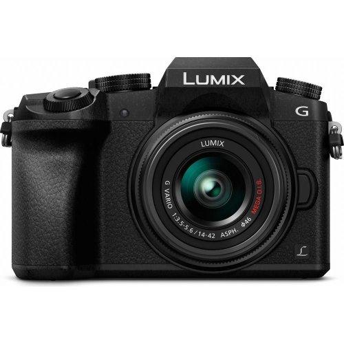 PANASONIC Lumix DMC-G7EB-K Compact System Camera with Lumix G VARIO 14-42 mm f/3.5-5.6 II ASPH MEGA OIS Zoom Lens, White