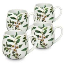 Konitz 44 7 343 2224 My Favorite Green Tea Snuggle Mugs, 4 Piece