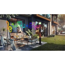 Patio Electric Heater with led light and bluetooth speaker