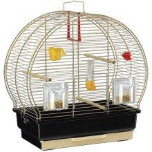 birdcage Luna-2 steel 44,5 x 25 x 45,5 cm brass