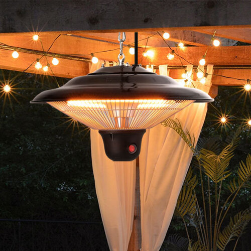Infrared Ceiling Patio Heater Electric Hanging 1500W Remote