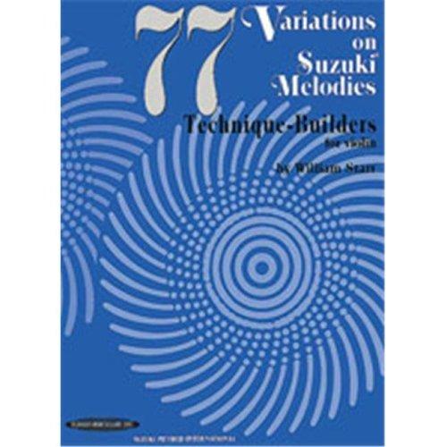 Alfred 00-0617 77 Variations on Suzuki Melodies- Technique Builders - Music Book