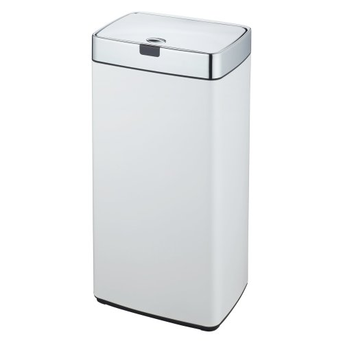 Dihl 45L Steel Touch-Free Bin - White | Automatic Sensor Bin