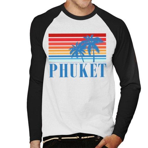 Phuket Retro 70s Sunset Men's Baseball Long Sleeved T-Shirt