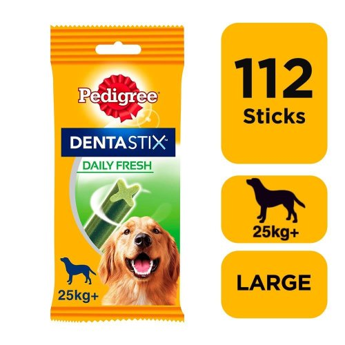 PEDIGREE Dentastix Fresh Large Dog Dental Chews 28 Stick (Pack Of 4)