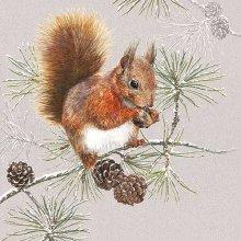 Ambiente 3 Ply Paper Napkins, Squirrel in Winter