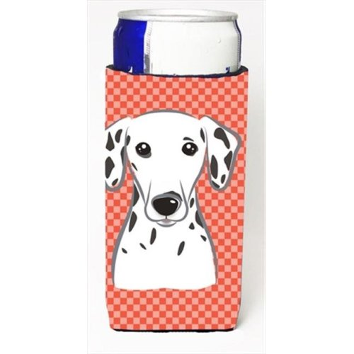 Red Checkered Dalmatian Michelob Ultra bottle sleeves for slim cans