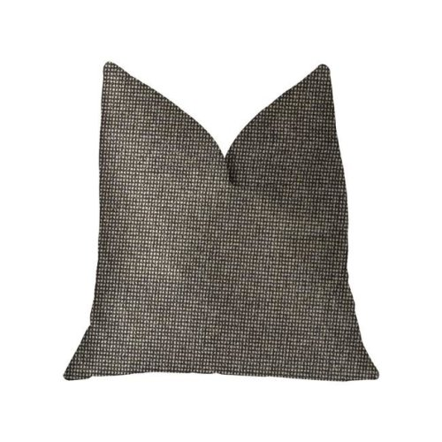 Abigail Luxury Double Sided Throw Pillow, Charcoal - King