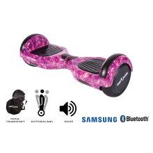 Smart Balance Hoverboard 6.5 inch, Regular Galaxy Pink, Motor 700 Wat, Bluetooth, LED