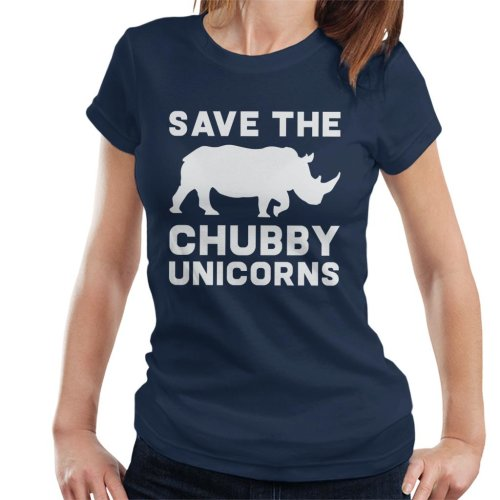 Save The Chubby Unicorns Slogan Women's T-Shirt