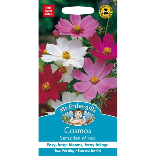 Mr Fothergills - Pictorial Packet - Flower - Cosmos Sensation Mixed - 120 Seeds