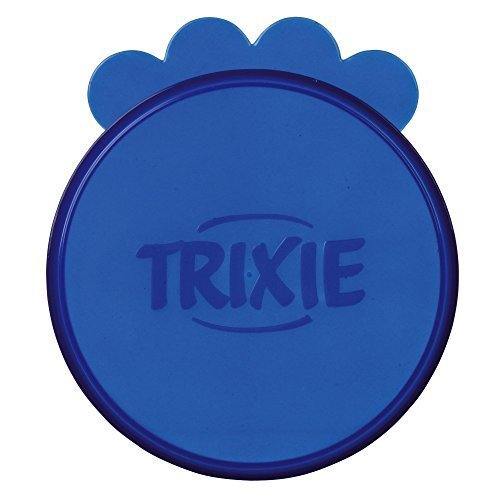 Trixie Lids For Large Tins (1200gram) Diameter 10.6 Centimeter 2 Lids In Pack - -  lids large trixie food tins cat 2 dog pet can pack covers 1200gram