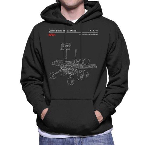 NASA Mars Exploration Rover Schematic Men's Hooded Sweatshirt