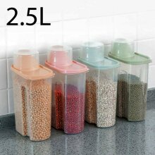 4pcs Large Capacity Airtight Dry Food Container Durable Cereal Storage