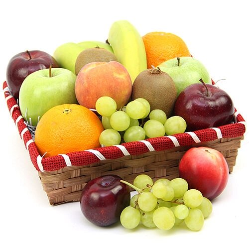 Nectarous Treat Fruit Basket - Fruit Gift Baskets and Gift Hampers with Personal Message Attached