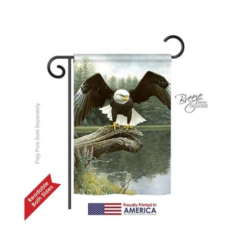 Breeze Decor 60085 Wildlife & Lodge Majestic Showers 2-Sided Impression Garden Flag - 13 x 18.5 in.