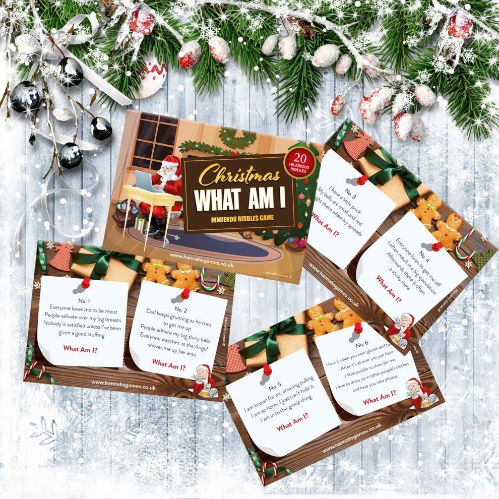 Christmas What Am I Innuendo Christmas Games For Adults 20 Dirty Minds Innuendo Riddles Game Stocking Fillers For Adults Secret Santa On Onbuy